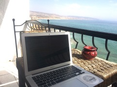 Getting the work done when needed, not bad with a view like this.