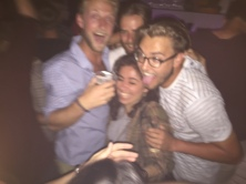 One of many 'blurry' nights in Gent - a real euro student city.