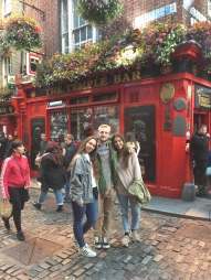 Ticking off the sights in Dublin.