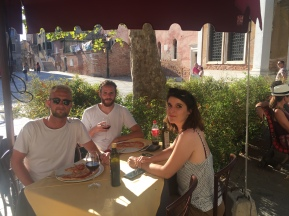 Lunch in Tuscany. Can't complain.
