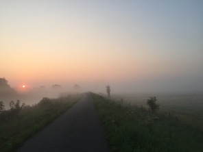 Only way I managed to stay fit prior to being able to surf again was early morning runs and swims in Belgium. This is the usual view I was granted with.